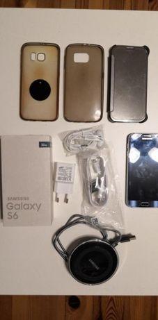 Samsung Galaxy S6 G920F Black Sapphire + dodatki