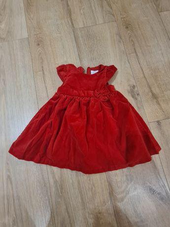 Świateczna sukienka z weluru roz.80