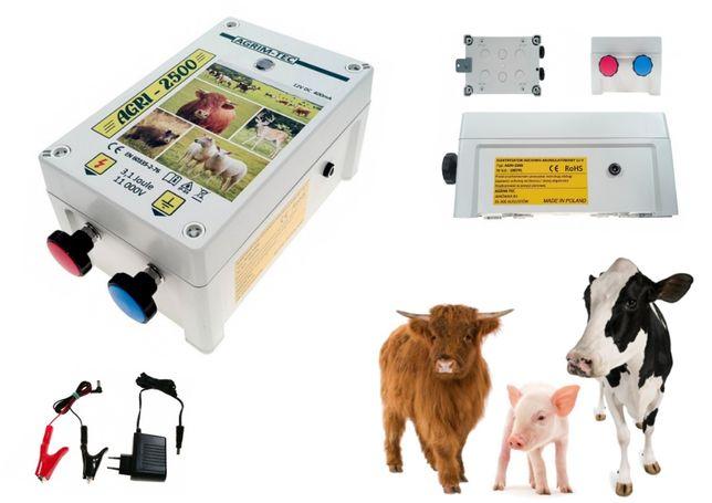 Pastuch elektryczny sieciowo-akumulatorowy AGRI-2500 bydło,psy,kozy