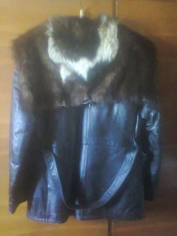 Куртка коженная мужская зимняя