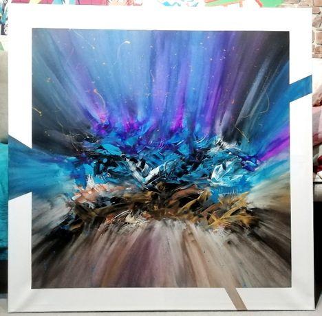 Obraz recznie malowany na płótnie-akryl