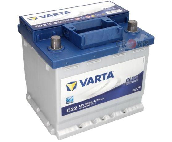 Akumulator VARTA Blue Dynamic 12V 52Ah 470A P+ C22 Wymiana DowózMontaż