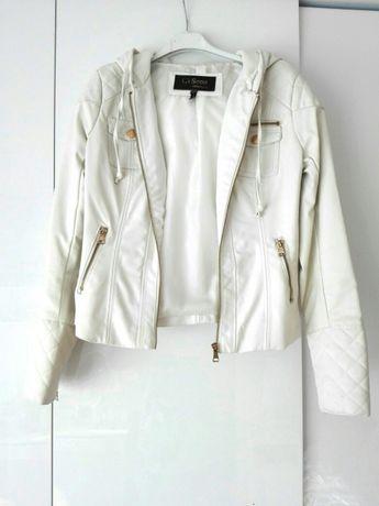 Biała kurtka ramoneska zamek USA S 36 Ci Sono by Cavalini