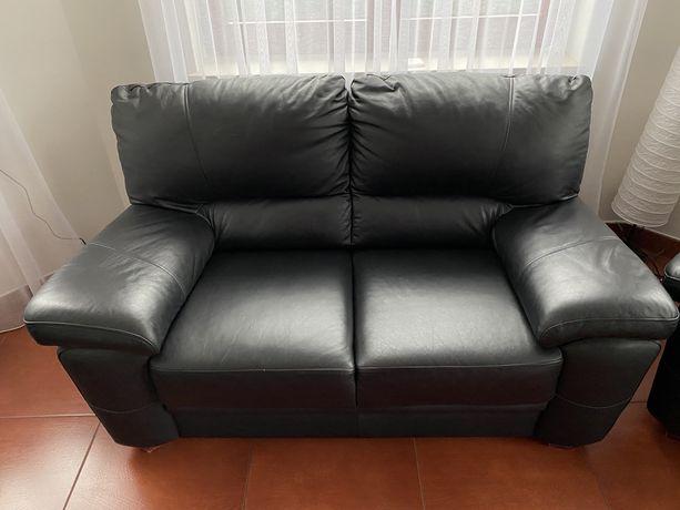 Kanapa sofa skórzana czarna