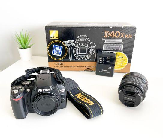 Nikon D40x + objetiva 18-55mm - com caixa