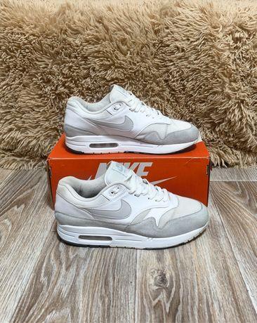 Кроссовки Nike Air Max 1. Белые. Оригинал. 42.5 27 см. Кожа. Jordan.