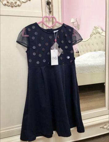 НОВОЕ! Платье OVS Италия р. 8-9 лет р. 134 можно в школу.