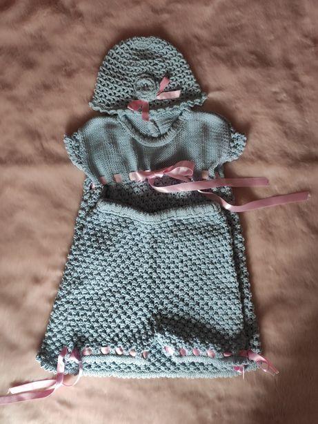 Conjunto em algodão (feito à mão)