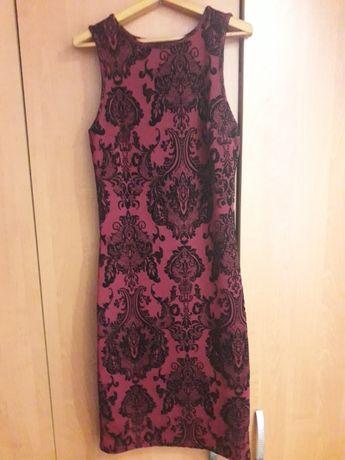 Бордовое платье 40 размер