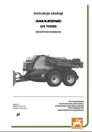 Instrukcja obsługi opryskiwacza UX 11200