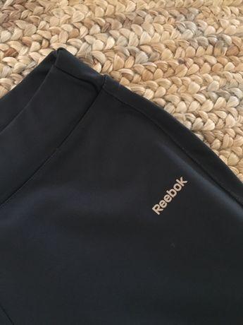 Spodnie dresowe reebok dry S szare dresy legginsy