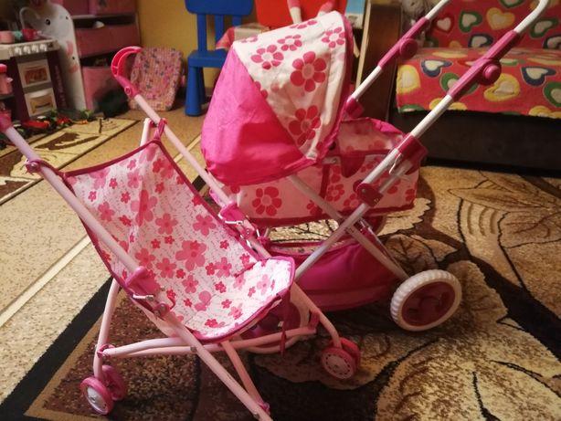 Wózek dla lalki głęboki spacerówka