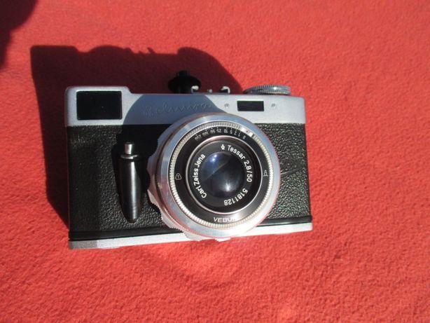 Zabytkowy aparat fotograficzny Belmira + Tessar 2,8/50 + światlomierz