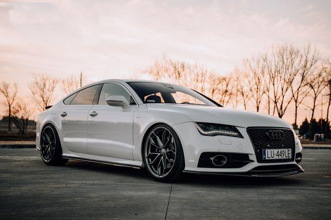 Auto do ślubu, wesele, komunie, Dekoracje gratis! Białe Audi A7/S7RS7