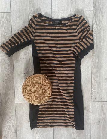 Sukienka jesienna w paski S