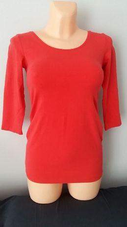 Czerwona bluzka ciążowa H&M Mama r.S