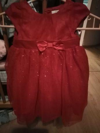 Śliczna sukienka 68 cm