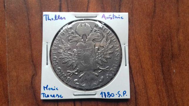 Moeda Thaller Áustria 1780