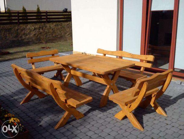 Meble ogrodowe biesiadne stół ławki deski 5 cm Promocja