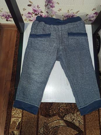 Класні брендові трикотажні меланжеві спортивні штани H&М Розмір 74-86