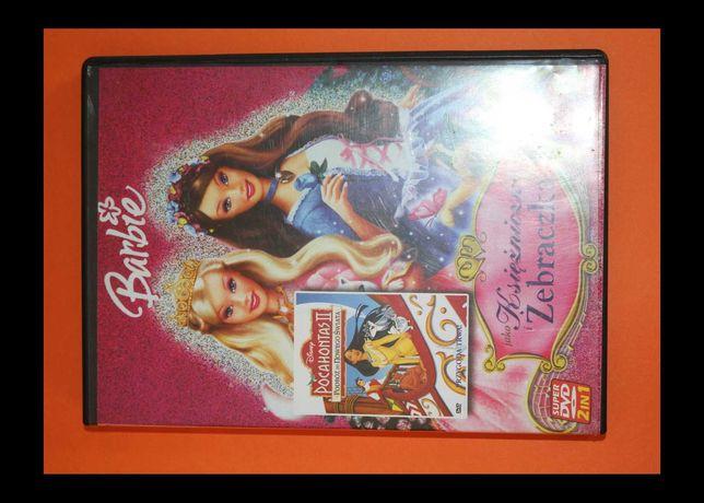 płyta DVD BARBI Księżniczka i Żebraczka + POCAHONTAS II bajka