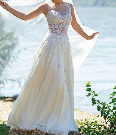 Нежное свадебное платье + подарок