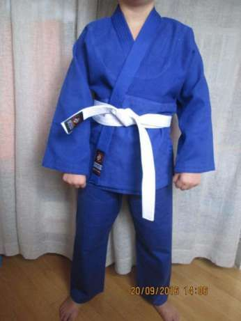 кимоно кімано для дзюдо айкидо,джиу джитсу синее белое кімоно кимано
