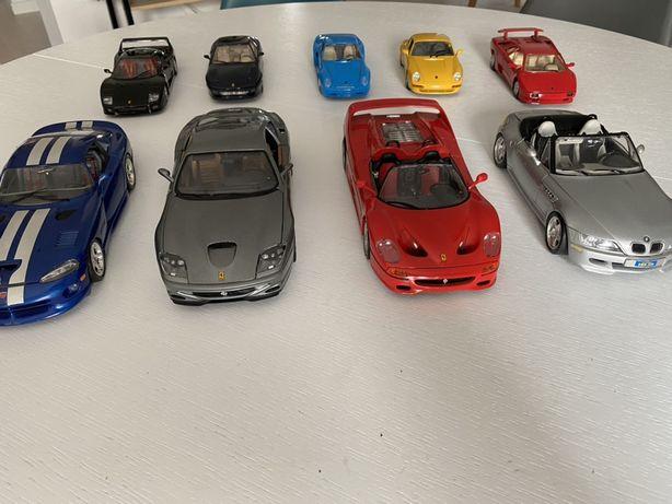 Kolekcja burago. Ferrari, Viper, BMW, Lamborgini, Porsche. Bburago