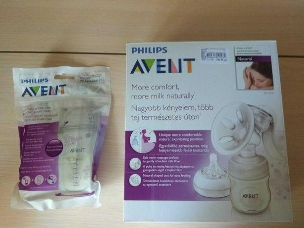 Молокоотсос ручной, Phillips Avent+ пакеты для молока