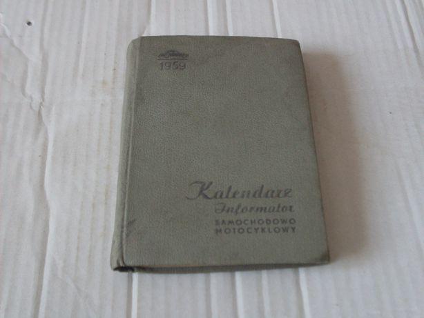 Kalendarz Informator samochodowo- motocyklowy 1959