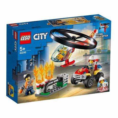 Конструктор Lego City Fire Пожарный спасательный вертолет 93 детали