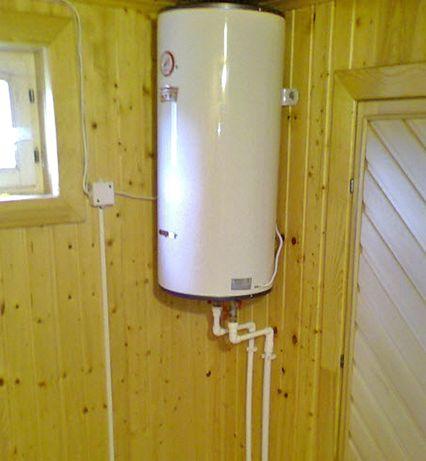 Установка водонагревательных баков