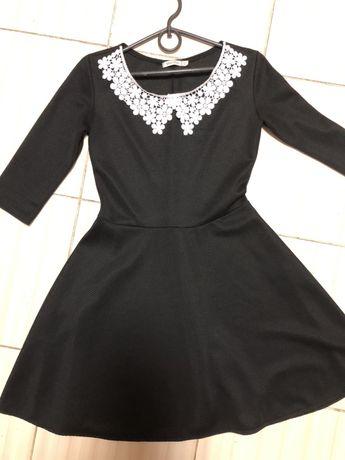 Чёрное платье в школу в офис 42 размер