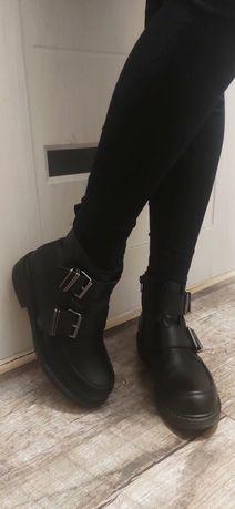 Ботинки женские осенние Vagabond кожа сапоги черевики жіночі шкіряні
