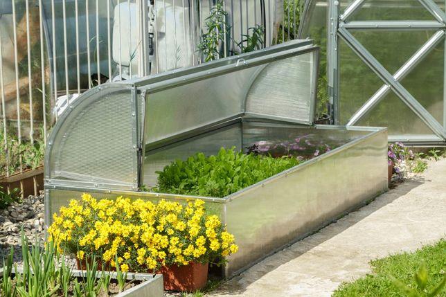 szklrania na rozsady, Mini szklarnia ogrodowa Lotos, stal, poliwęglan