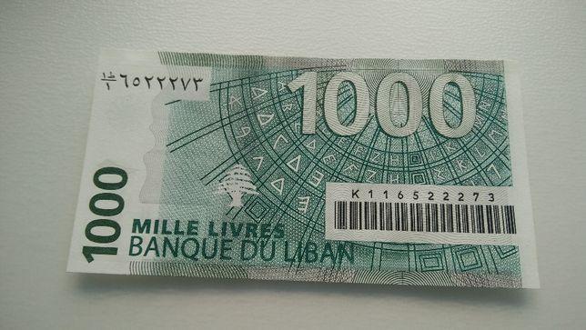 libano Banque Du Liban. 1000 livres. 2011 rara nota não circulada