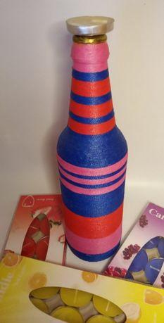 Бутылка подсвечник для декора квартиры