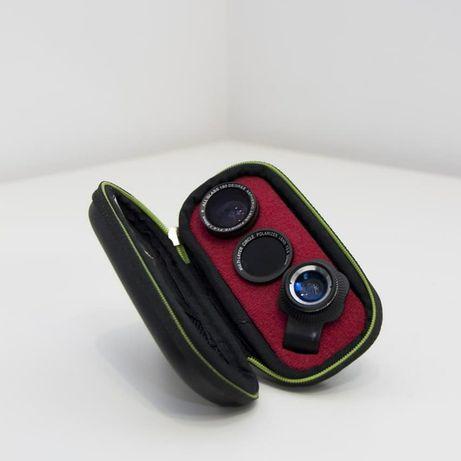 Kit de Lentes MUVIT 4 em 1 Universal  Para a câmara do seu Smartphone