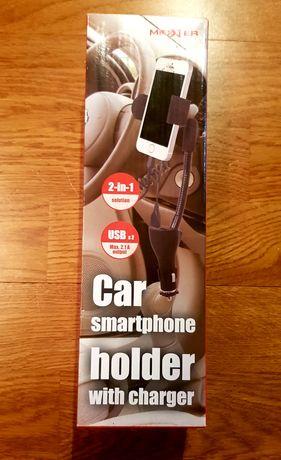 Uchwyt samochodowy na telefon. Nowy