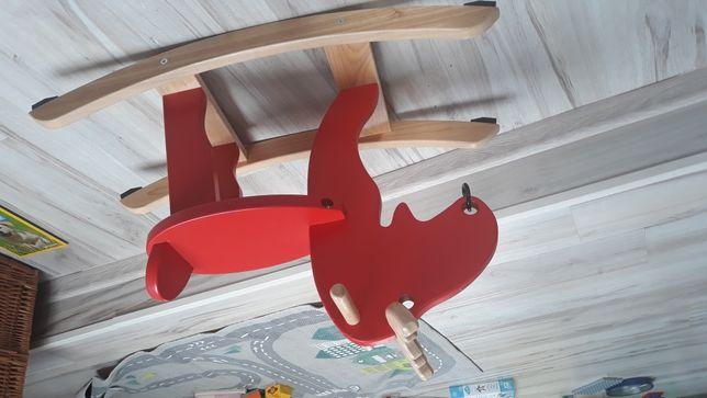 EKORRE ikea Łoś na biegunach, czerwony, drewno kauczukowe