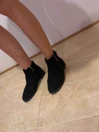 Чоботи шкіряні чорні