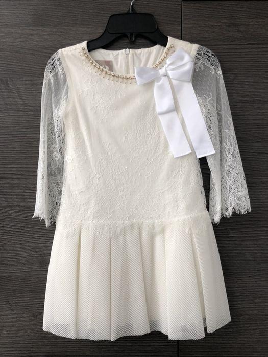 Нарядное, красивое платье NoblePeople в цвете ivory на рост 122см Алексеевка - изображение 1