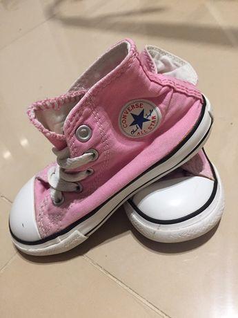 Różowe converse trampki buciki
