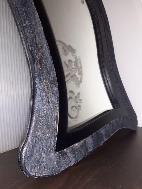 Lustro Loft drewnianej ramie toaletka glamour drewna 60/40 lite drewno