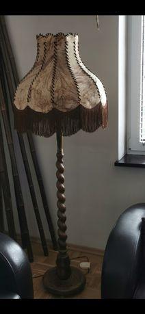 Lampka podłogowa i żyrandol - komplet