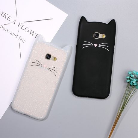 Чехол для Samsung Galaxy A3 A310 (2016), A3 A320 (2017) кошка с ушками
