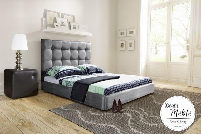 Łóżko tapicerowane KAŻDY WYMIAR Grey ponad 50 kolorów