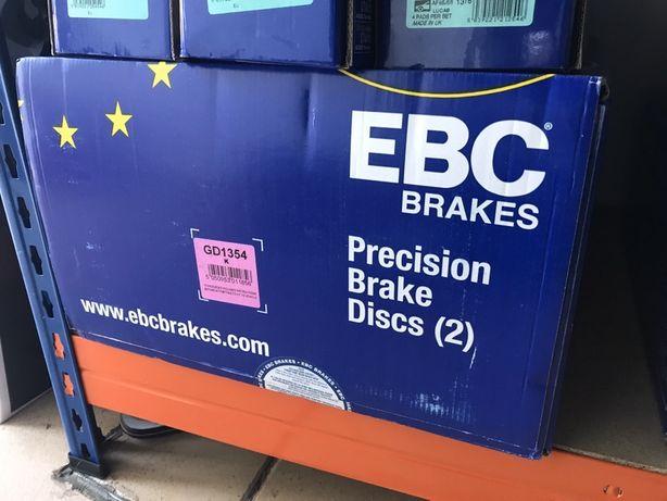 Discos travão EBC Perfurados GD1354 BMW F20 F21 F22 F23 E81 E87 284mm