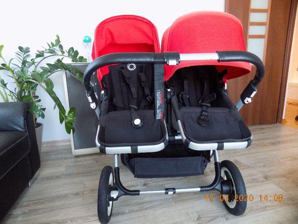 Wózek bliźniaczy Bugaboo Donkey Twin z fotelikami i akcesoriami