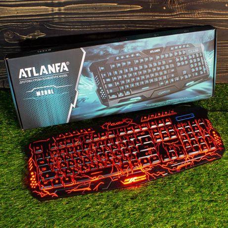 Игровая клавиатура с подсветкой Atlanfa M200L+Подарок USB Кабель !!